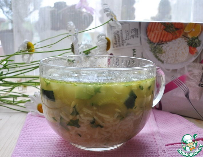 Рецепт: Густой рисовый суп Дачные фантазии