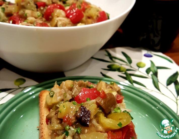 Рецепт: Закуска Натуральные запечённые овощи