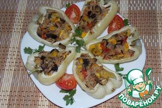 Рецепт: Перец, фаршированный рисом и овощами
