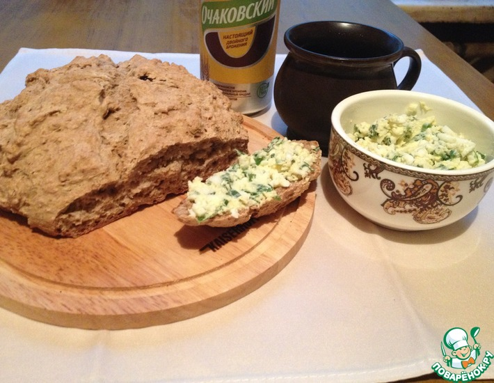 Рецепт: Содовый ржаной хлеб на квасе