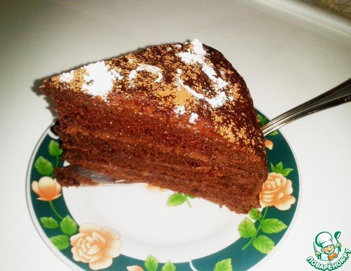 Рецепт: Торт Темная ночь