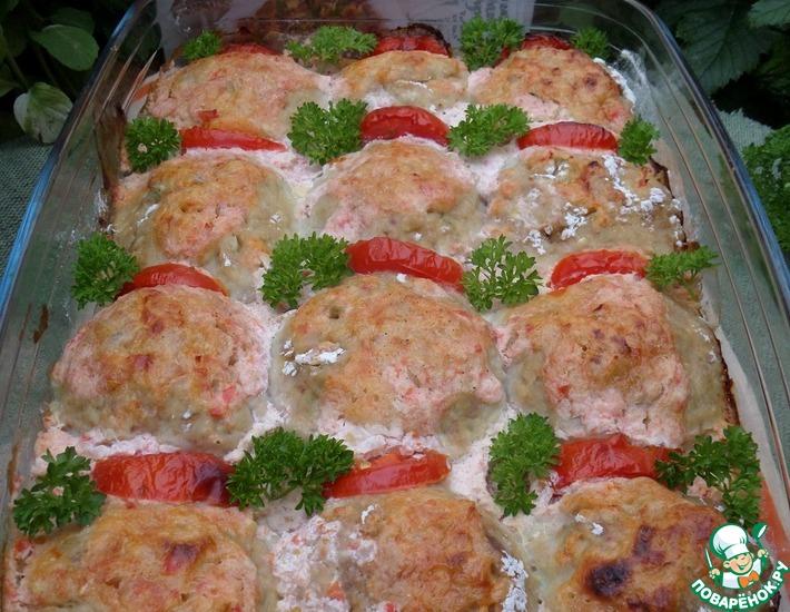 Рецепт: Тефтели с гречкой и кабачком