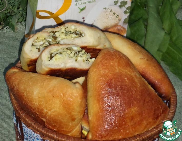 Рецепт: Пирожки с рисом, яйцом и щавелем