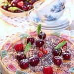 Творожный пирог с ягодой и мармеладом