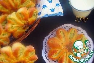 Рецепт: Пирожки картофельные Цветы