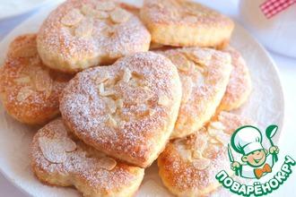 Рецепт: Печенье творожно-миндальное