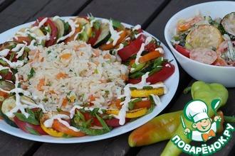 Рецепт: Теплый салат из цуккини