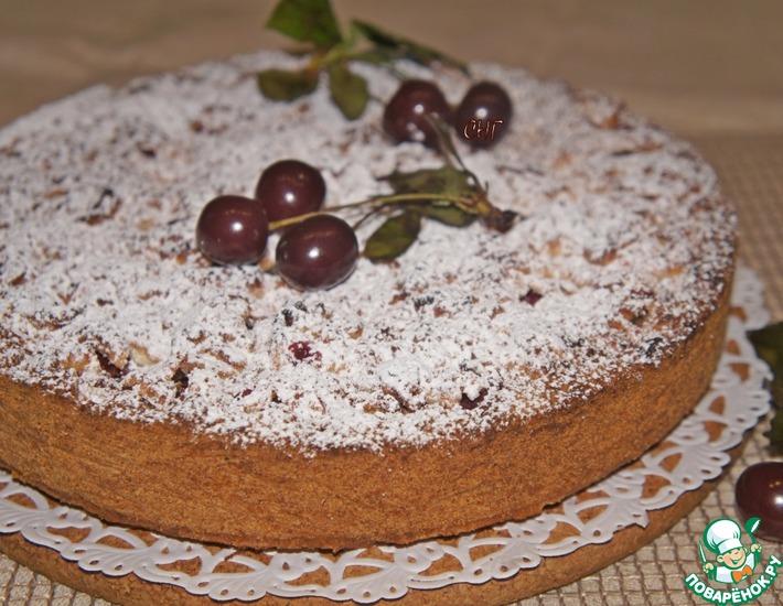 Рецепт: Песочный пирог с вишней