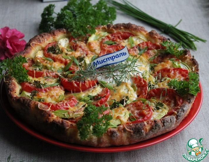 Рецепт: Пирог с пшеном и овощами