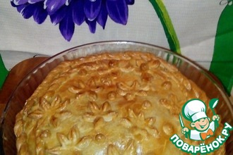 Рецепт: Мясной пирог Индюшка на лугу