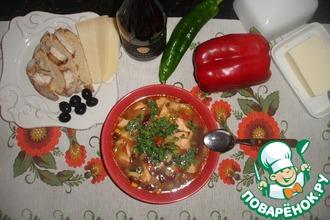 Рецепт: Мексиканский рыбный суп