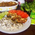 Белая рыба под овощным соусом