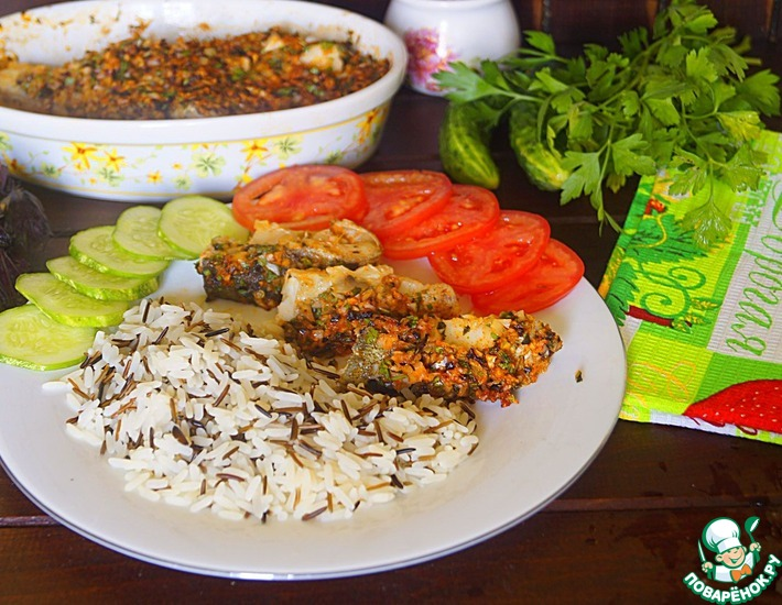Рецепт: Белая рыба под овощным соусом