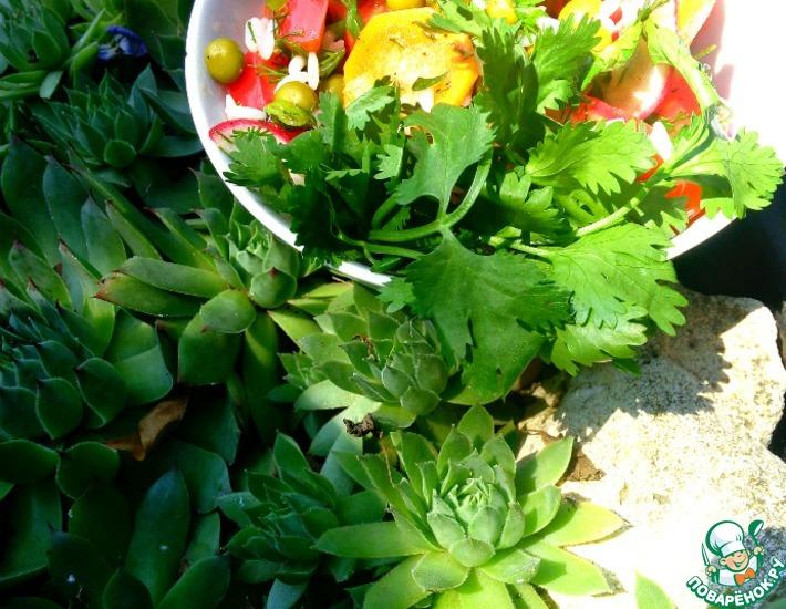 Рецепт: Салат с рисом и летними овощами