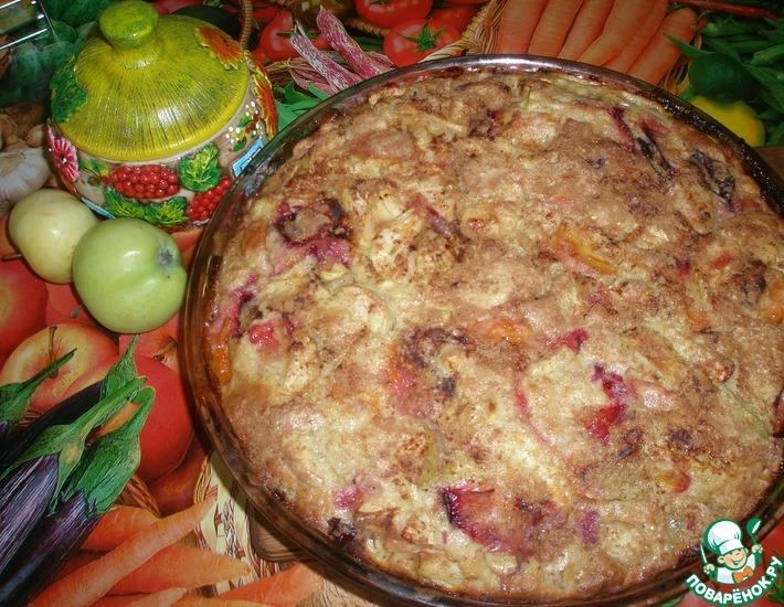 Рецепт: Шарлотка Трио с коричной карамелью