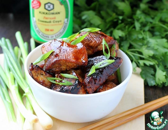 Рецепт: Филе индейки в пикантном маринаде