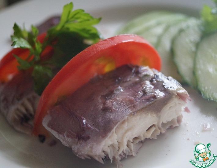 Рецепт: Скумбрия, маринованная в квасе
