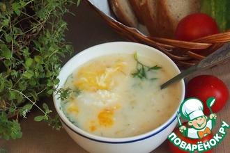 Рецепт: Белый суп с яйцом-пашот