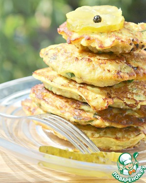 Squash chicken fritters