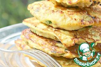 Рецепт: Кабачково-куриные оладьи