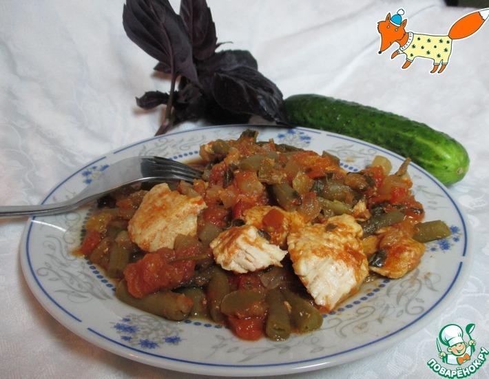 Рецепт: Индейка с овощами и томатным соусом