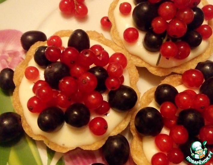 Рецепт: Пирожное корзиночки Красное и Чёрное