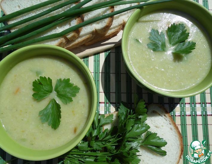 Рецепт: Суп-пюре овощной с брюссельской капустой