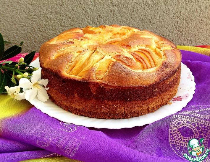 Рецепт: Персиковый пирог Моя нежность
