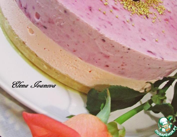 Рецепт: Торт-парфе Смородиновые облака