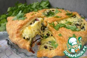 Рецепт: Пирог со свекольной ботвой и сыром