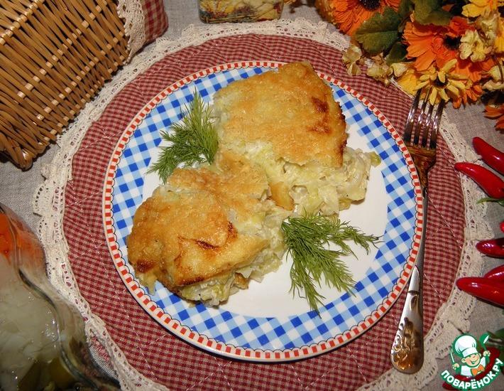 Рецепт: Капуста в соусе Бешамель