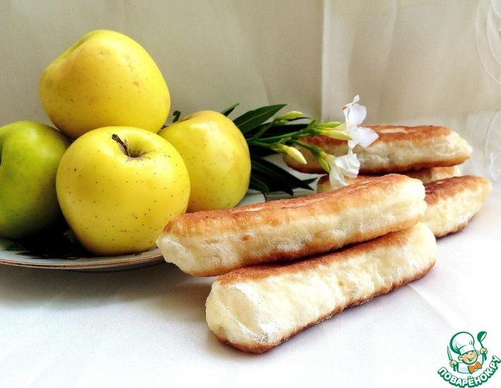 Рецепт: Жареные пирожки с яблочно-грушевым джемом