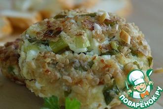 Рецепт: Сырники с зеленым луком и копченым сыром