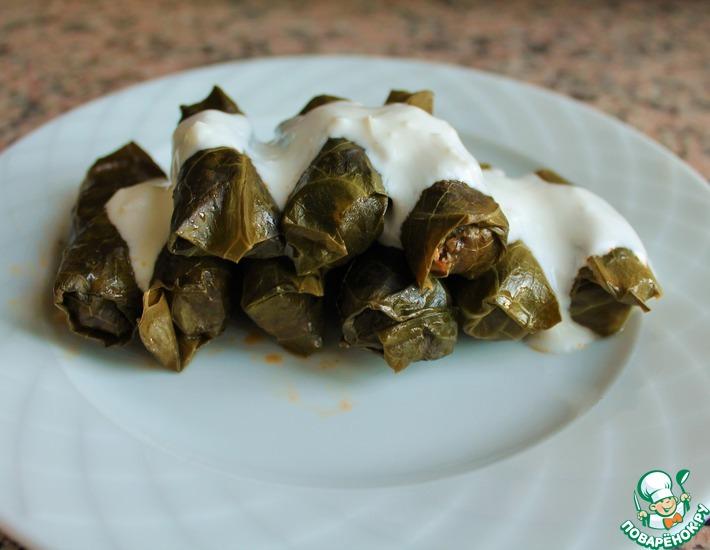 Рецепт: Фаршированная листовая капуста