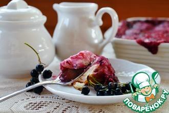 Рецепт: Творожные колобки со смородиновой заливкой