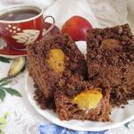 Шоколадный пирог с нектаринами и шокоштрейзелем