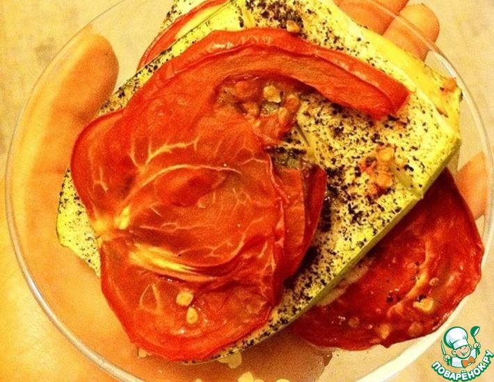Рецепт: Печеные кабачки с помидором