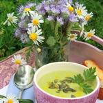 Зелёный бархатистый суп