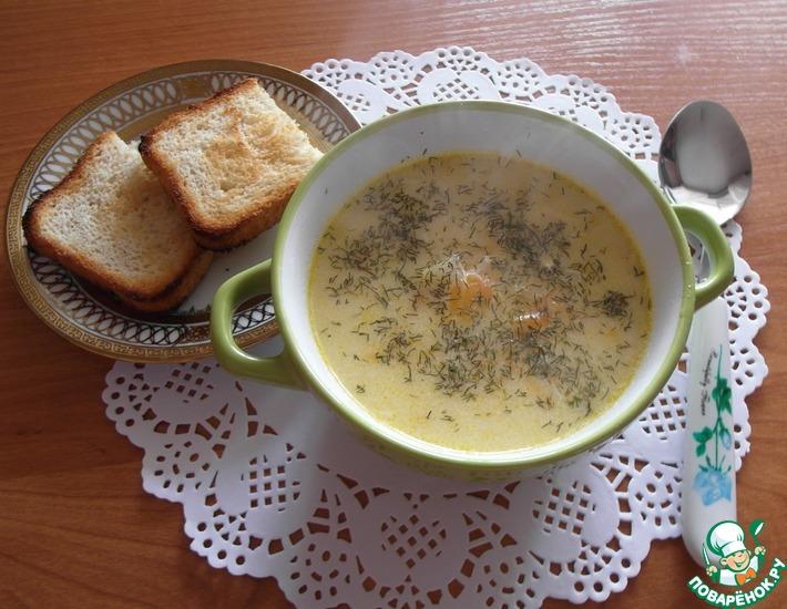 Рецепт: Сырный суп с куриной грудкой