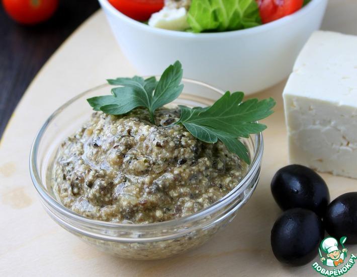 Рецепт: Соус с брынзой и маслинами