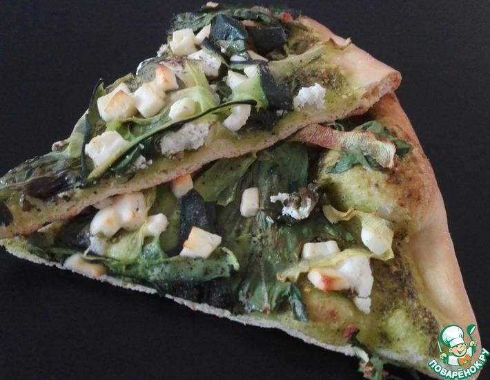 Рецепт: Пицца Зеленый сад