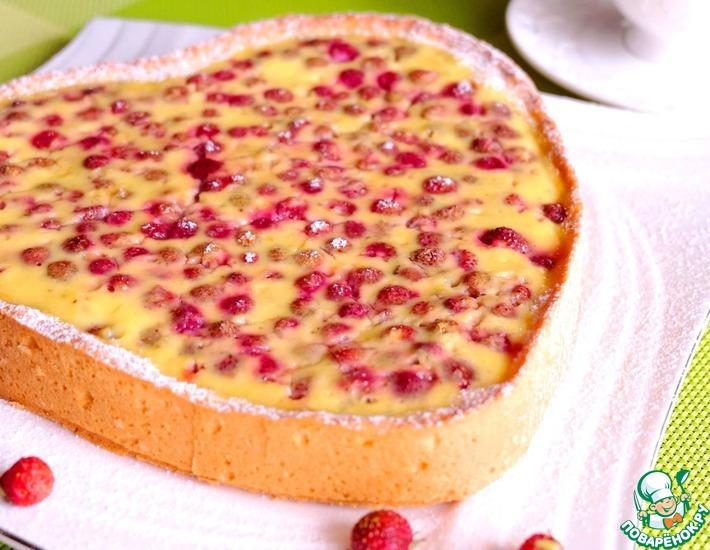 Рецепт: Тарт Лесная ягода в сметанном креме