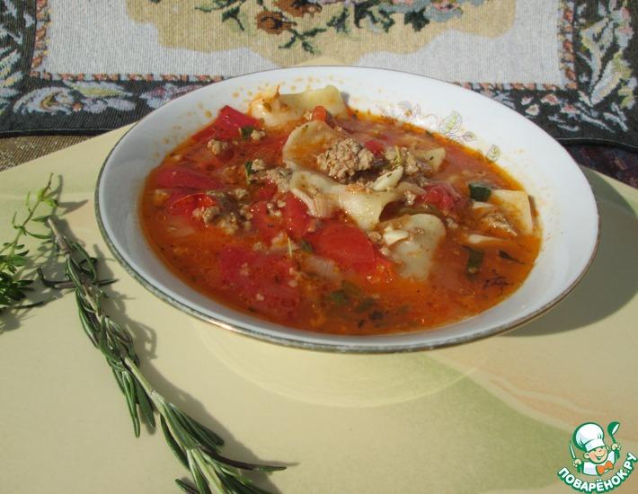 Рецепт: Суп Лазанья