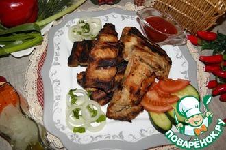 Рецепт: Шашлык из свиных ребер Душевный пикник