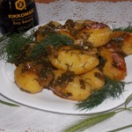 Картофель, запеченный с соевым соусом