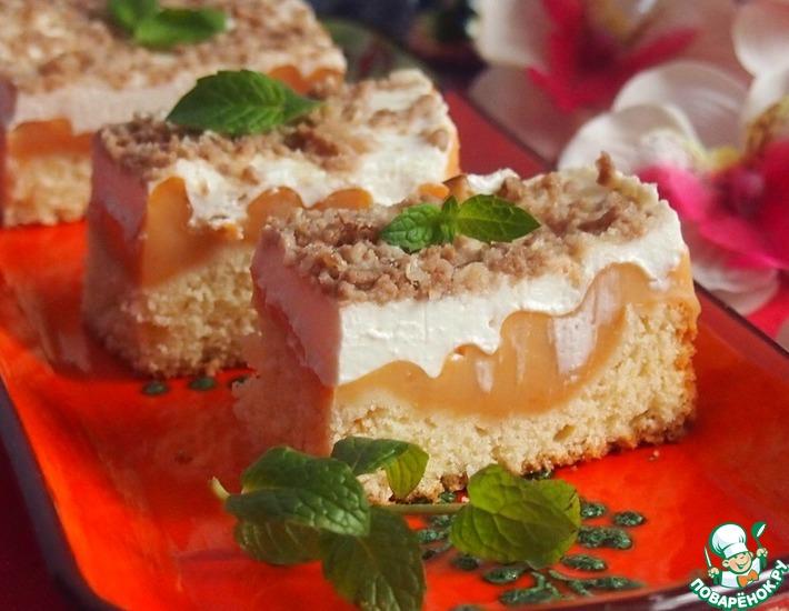 Рецепт: Карамельное пирожное