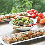 Салат из баклажанов и рулетики Восток
