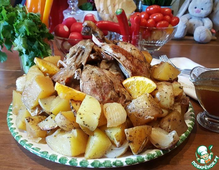 Рецепт: Апельсиновая утка с картофелем в рукаве