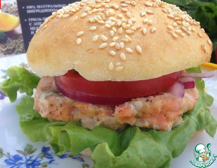 Рецепт: Фишбургеры с сальсой из авокадо