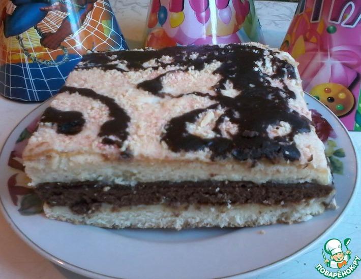 Рецепт: Бисквитный торт Мурчик